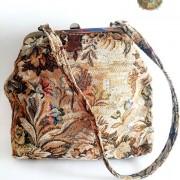 bolso vintage de tela de tapiz