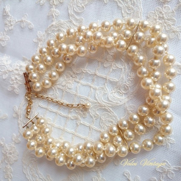 collar vintage de perlas, de manacor, pearls necklace,