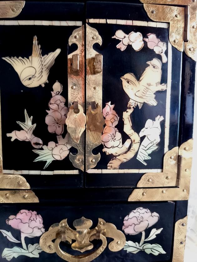 Antiguo joyero lacado con madreperla velei vintage - Mueble chino antiguo ...