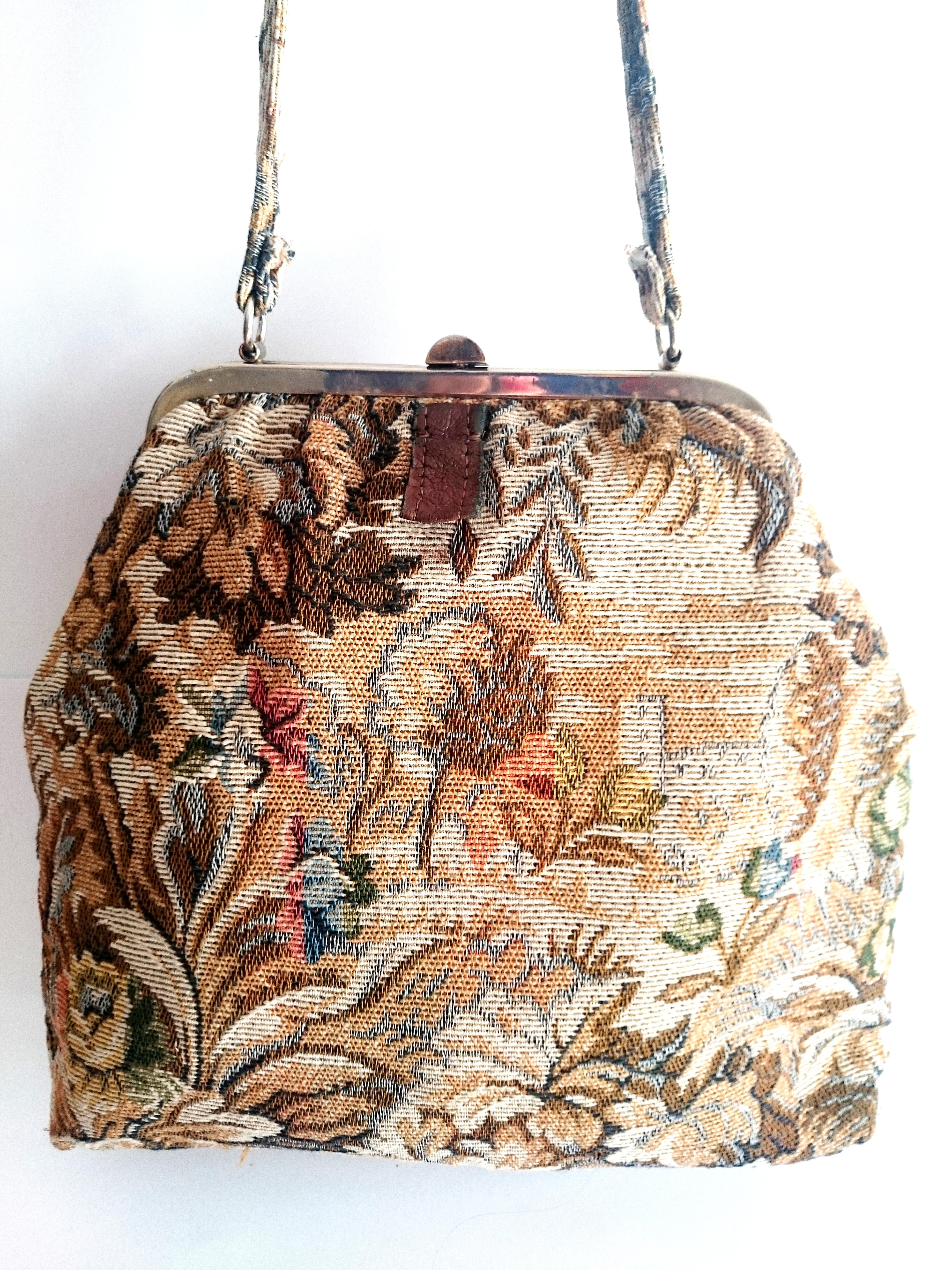 440fefc16 BOLSO DE TELA DE TAPICERÍA | Velei Vintage : Bolsos antiguos ...