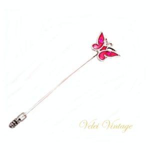 alfiler-mariposa-rosa-plateado-vintage-bisuteria