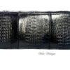 bolso clutch de cocodrilo vintage color negro