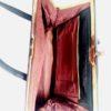 bolso de piel marcada cocodrilo