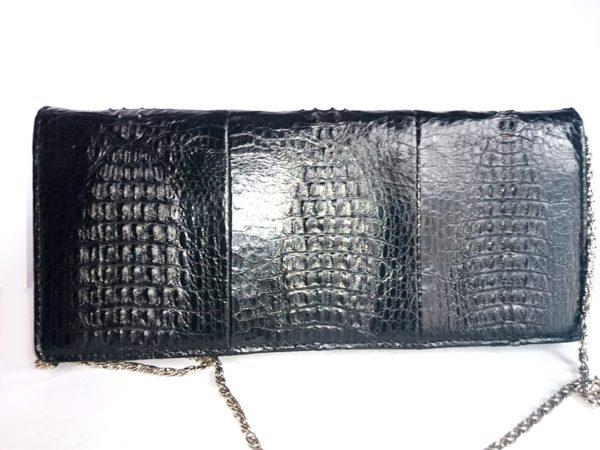 bolso vintage de piel de cocodrilo