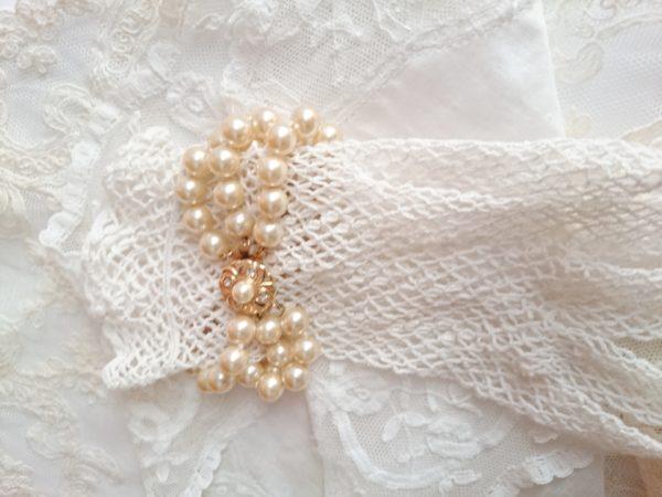 pulsera vintage de perlas de manacor, tres vueltas, novias