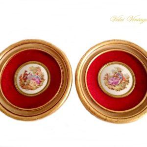 cuadros-antiguos-vintage-con-porcelana-fragonard-regalos-originales