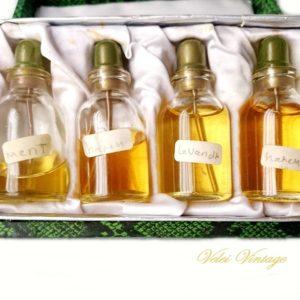 perfumeros-esencieros-antiguos-perfumes-coleccionismo-en caja-original