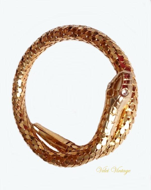 pulsera-brazalete-serpiente-vintage-anos-50