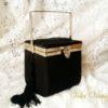 bolso-antiguo-de-seda-con-espejo-vintage-purse-negro-fiesta-de-coleccion-clutch-bombonera