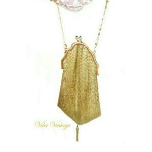 bolso-de-fiesta-vintage-malla-dorada-de-coleccion-antiguo-novia