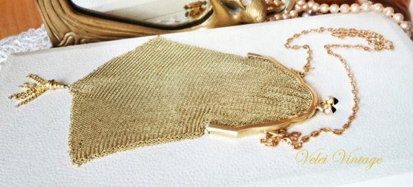 bolso-de-malla-de-fiesta-vintage-dorado-oro-plaque-complementos-bombonera-fiesta