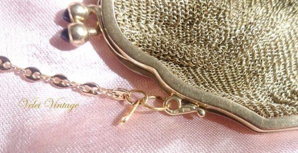 bolso-de-malla-dorada-oro-plaque-vintage