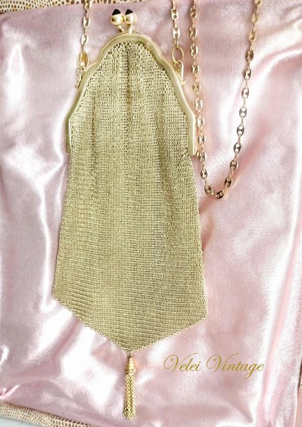 bolso-limosnera-de-fiesta-vintage-oro-plaque-malla-dorada-antiguos-joya