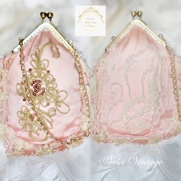 bolso-de-fiesta-rosa-palo-dorado-perlas-boquilla-flecos-limosnera